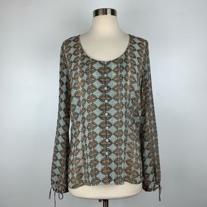 Anthropologie Tapemeasure Pintucked Blouse D3934